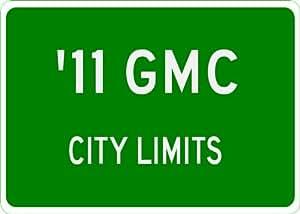 2011 11 GMC YUKON XL City Limit Sign - 10 x 14 Inches