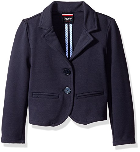 French Toast Big Girls' Basic Blazer, Navy, 7