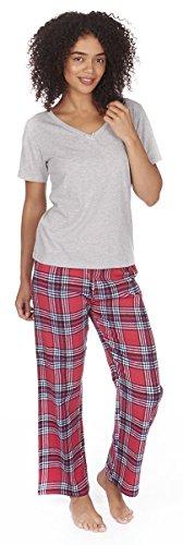 Forever Dreaming Jersey Top & Franela Pantalones Pijama Conjunto gris