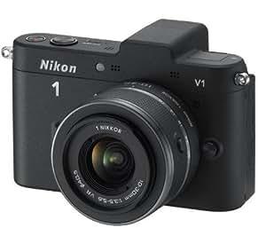 """Nikon 1 V1 - Cámara EVIL de 10.1 Mp (pantalla de 3"""", objetivo(s) 10-30mm f/3.5, zoom óptico 3x, sensor CMOS 1"""", estabilizador de imagen óptico) color negro - kit con objetivo 1 NIKKOR VR 10-30mm"""