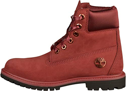 Femme Premium Timberland A1sc7 Rouge 6po Red Chaussures Cuir Nubuck UzqGSMVp