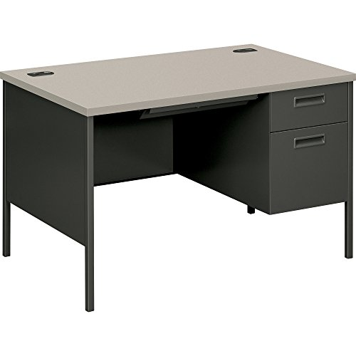 HON  Metro Classic Small Office Desk -  Right Pedestal Desk with File Drawer, 48