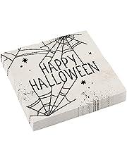 Amscan 9911670 - servetten Happy Halloween spinnenweb - 16 stuks - 33 x 33 cm