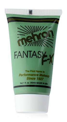 Mehron Makeup Fantasy F/X Water Based Face & Body Paint, TEAL – 1oz Carded (Halloween Makeup T)
