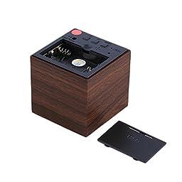 Modern Cube LED Alarm Clock Temperature Sounds Control Display Novelty Electronic Desktop Digital Classic Wooden Table Clocks iG-86