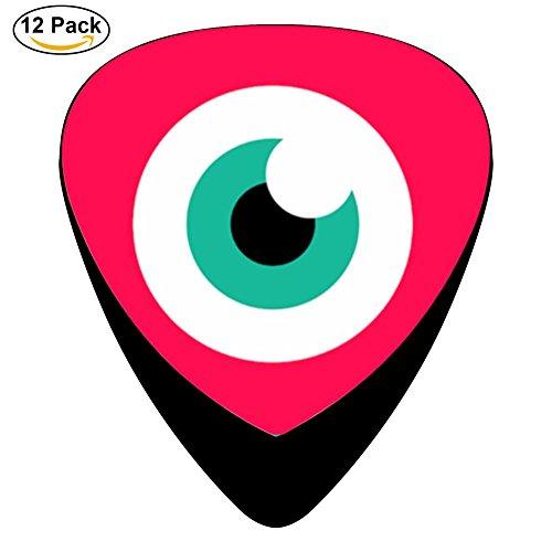 GGG-TAR musical.ly Eye Logo Guitar Picks / Celluloid,12 Pack