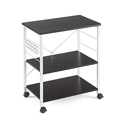 Mr IRONSTONE 3-Tier Kitchen Baker's Rack Utility Microwave Oven Stand Storage Cart Workstation Shelf