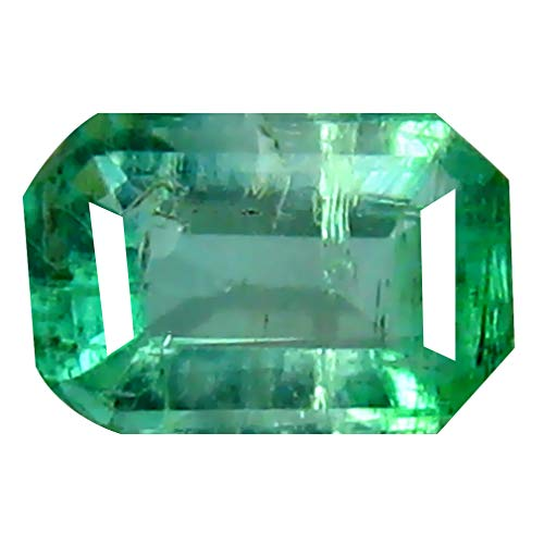 0.35 ct Octagon Cut (6 x 4 mm) Colombian Emerald Natural Loose Gemstone