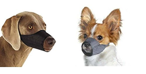 Dog Bark Muzzle - Large Quick Fit Dog Muzzle, Size 5, fit snout size 8 1/4