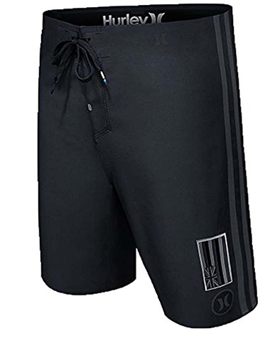 Hurley Mens Phantom JJF II Elite Pipe Edition Boardshorts Black (Hurley Black Belt)
