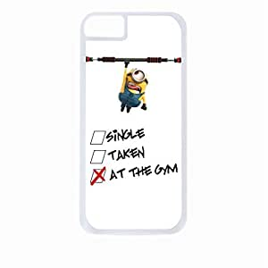 Single Dating At the Gym - Hard White Plastic Snap - On Case-Apple Iphone 5C Only - Great Quality!