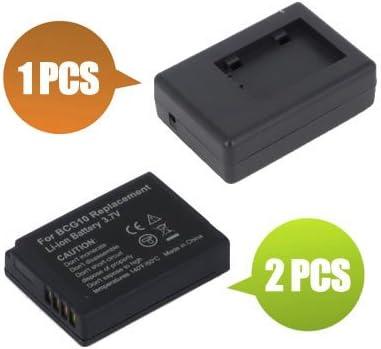 1x Charger Replacement for Panasonic Lumix DMC-TZ6S 1000 mAh BattPit trade; New 2x Digital Camera Battery