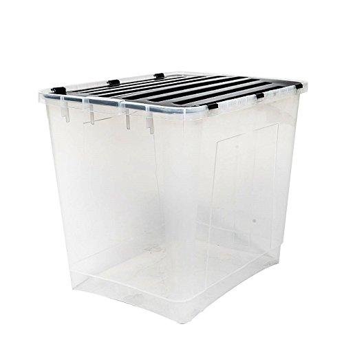 Aufbewahrungsbox mit Deckel Größe: 100 Liter Ideal für Büro, Kinderzimmer, Küche & Werkstatt