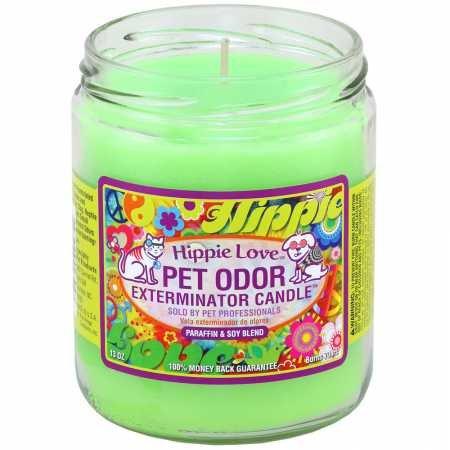 (Pet Odor Exterminator Candle Hippie Love)