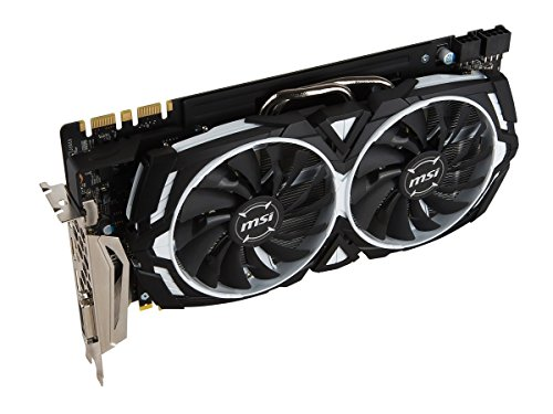 MSI Gaming GeForce GTX 1080 8GB GDDR5X SLI DirectX 12 VR Ready Graphics Card (GTX 1080 ARMOR 8G OC) (Dual Video Cards Sli)