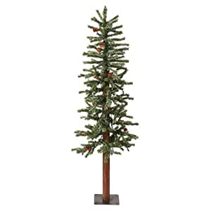 Vickerman 3' Frosted Alpine Berry Artificial Christmas Tree with 100 Clear lights