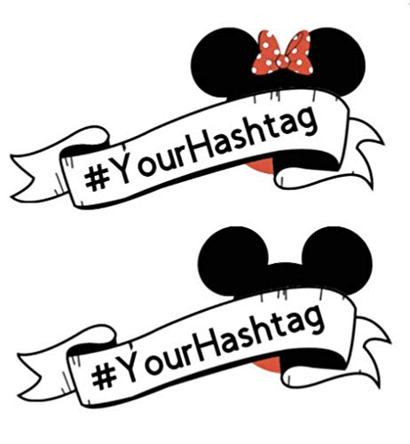 (Personalized Disney #Hashtag Magnet. Family Name Mickey Inspired Magnet for Disney Cruise Door Magnet Decor with your Family Name. Disney Banner Magnet)
