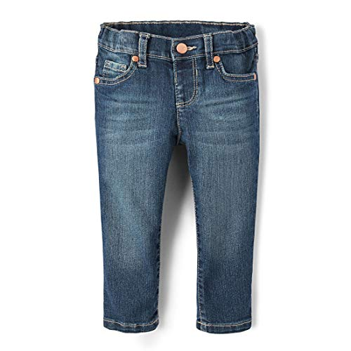 The Children's Place Girls Baby Skinny Jeans, Blues WASH 3538, 12-18MOS ()