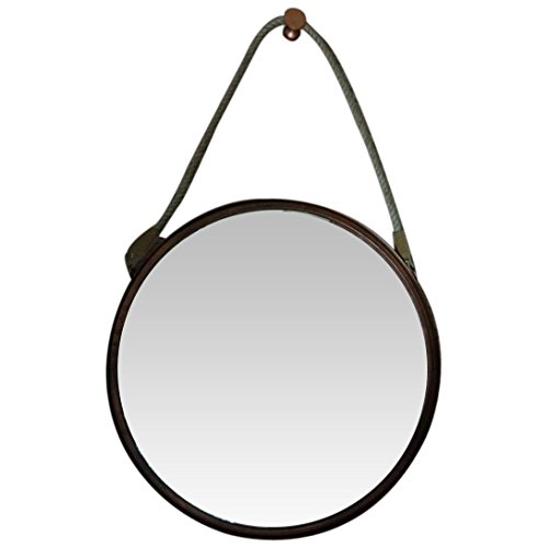 """Round Decorative 24"""" Wall Mirror Frame with Burnt Copper Antique Finish"""