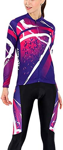 サイクルジャージ サイクリング長袖スーツ女性モデル春と秋の乗馬スーツ通気性の快適さ 吸汗速乾高通気 (色 : A1, サイズ : L)
