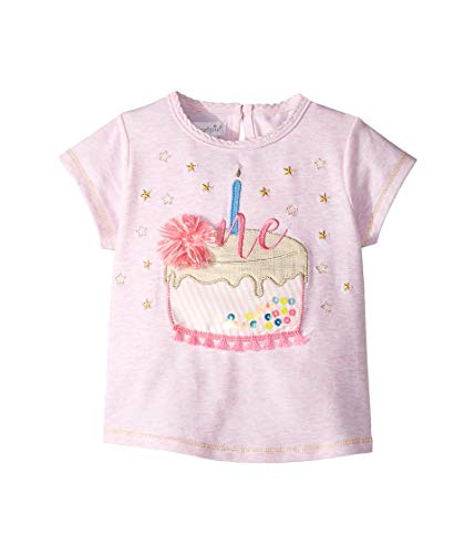 Mud Pie Baby Girl's One Birthday Tee (Infant) Pink 12-18 Months