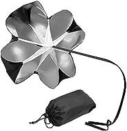 Motion Resistance Umbrella Running Umbrella Polyester Training Drag Parachute Speed Drills Umbrella for Fitnes
