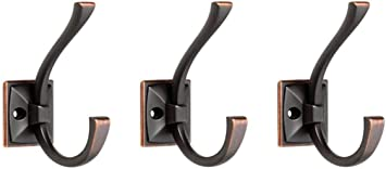 , 1 Single Liberty Hardware 137246 Ruavista Coat and Hat Hook Bronze with Copper Highlights #.1-Pack Single