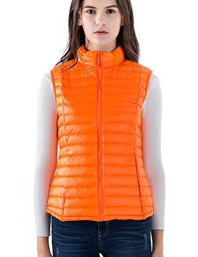 CHERRY CHICK Women's Ultralight Packable Down Vest (L, (Down Vest)