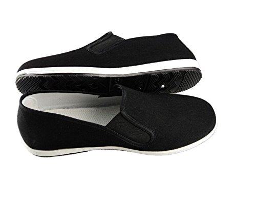 DADAWEN - Zapatillas de Artes Marciales de Lona para Hombre, Color Negro, Talla 43 EU