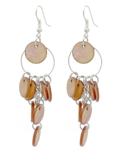 Boucles d'oreilles Chandelier style coquillage