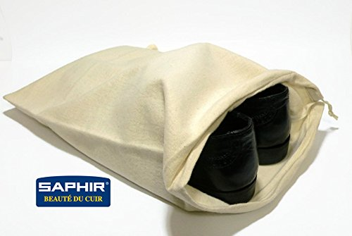 Saphir Shoe Storage Bag - Cotton - Shoe Protection on Dust, Light & Moisture by Saphir France (Image #2)