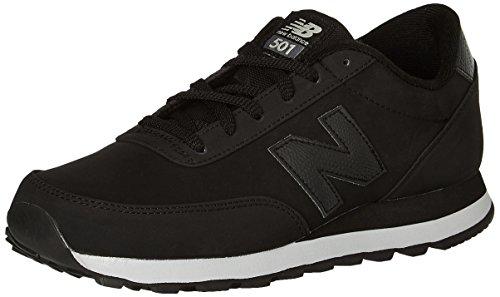 New Balance Men's 501 Fashion Sneakers, Black, 9.5 D US