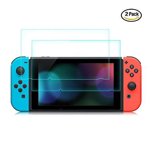 Premium Tempered Glass Screen Protector for Nintendo Switch 2017 - 0.24mm/9H hardness/HD/Anti-fingerprint (2-Pack)