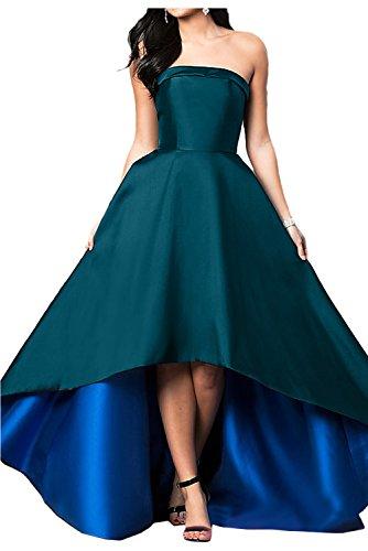 Partykleider Einfach Satin Festkleid Lo Ivydressing Damen Ballkleid Blau Hi Abendkleider Traegerlos zCxqZ5