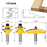 GAFeng 3PCS 1/2'' Shank Ogee Door Frame with Cove