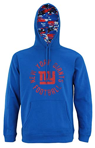 Lined Screen Print Sweatshirt - Zubaz NFL Men's Team Camo Lined Pullover Hoodie, New York Giants X-Large
