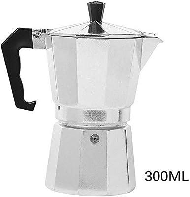 Homie Cafetera Italiana Espresso Latte Cafetera 1 Taza 3 Tazas 6 Tazas Tazas Percoladora Cafetera Mocha Latte Olla Percoladora Moka, 6 Tazas 300ML: Amazon.es: Hogar