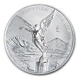 MEXICAN SILVER LIBERTAD COINS%2C ONE OUN