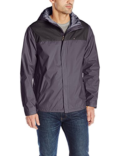 - Tommy Hilfiger Men's Waterproof Breathable Hooded Jacket, Black/Charcoal, S