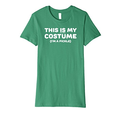 Womens Funny Pickle Costume Halloween T-Shirt Trick or Treat Simple Medium Kelly Green (Super Simple Halloween Costumes For Women)