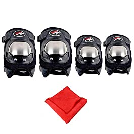 AllExtreme EXSSPG4 Breathable Adjustable Knee Pads Motorcycle Racing Riding Knee Guard Unisex Armor Proctector with…