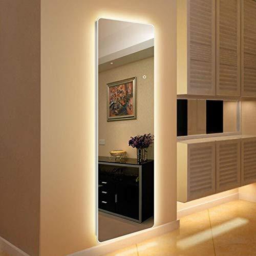 Full Length Mirror Floor Mirror, Wall Mounted LED Lighted Bathroom/Vanity Mirror, Backlit, -