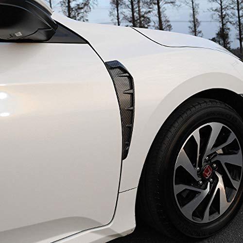 For Honda Civic10th 2016-2018 Car Front Side Vent Fender COVER Trim Carbon Fiber Color
