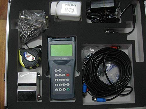 Portable Ultrasonic Flowmeter,Digital Handheld Ultrasonic Flow Meter Flowmeter (Measuring Range DN15-100mm - Ultrasonic Meter Portable Flow