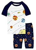 Boys Space Pajamas Summer T Shirt Pants Set for Kids Toddler Sleepwear Clothes PJS Size 6