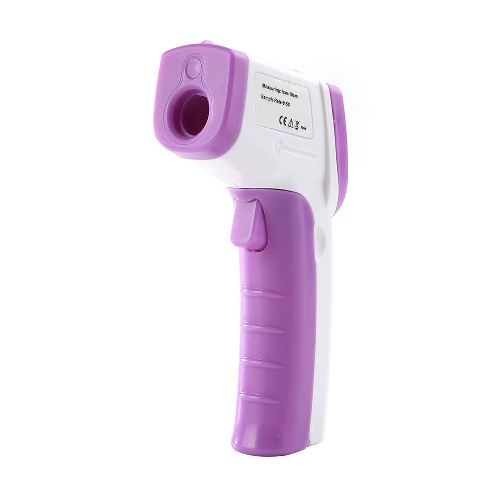 CFPacrobaticS Digital-LCD-Hintergrundbeleuchtung Infrarot-Thermometer Ber/ührungslose Stirntemperatur-Pistole Blau
