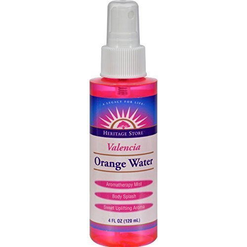 Heritage ProduCTs Flower Water Orange Atomizer - 4 Oz, 6 pack by Select Nutrition