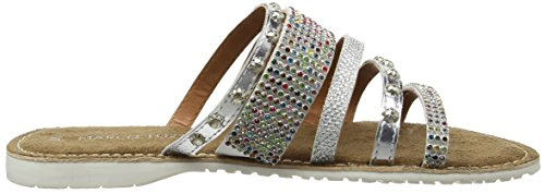 Marco Tozzi 27108, Sandales Bout Ouvert Femme, Silber Argent (Silver Comb 948)