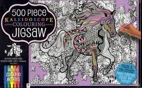 kaleidoscope coloring jigsaw puzzle