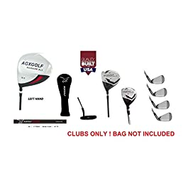 AGXGOLF Men's Left Hand XLT Edition Executive Golf Club Set wDriver Fairway & Utility Club + Irons, Wedge & Free Putter; Cadet, Regular & Tall Lengths; Built IN USA!